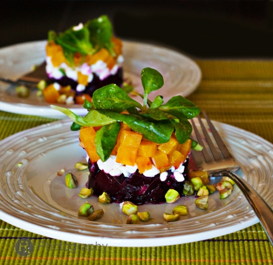 Roasted Beet and Goat Cheese Salad with Pistachios « Hungry Foodies ...