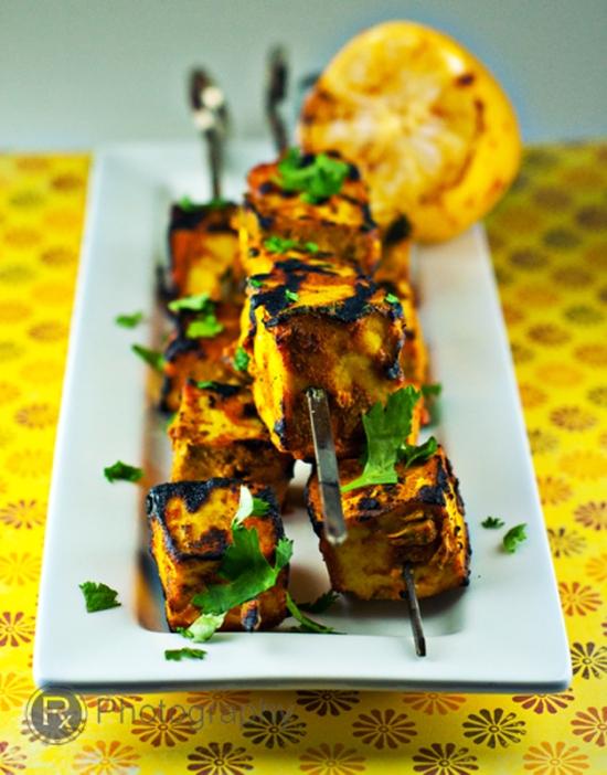tandoori, tandoori tofu, tofu tandoori, tandoori tofu kebabs, tandoori tofu kebobs, tandoori tofu skewers