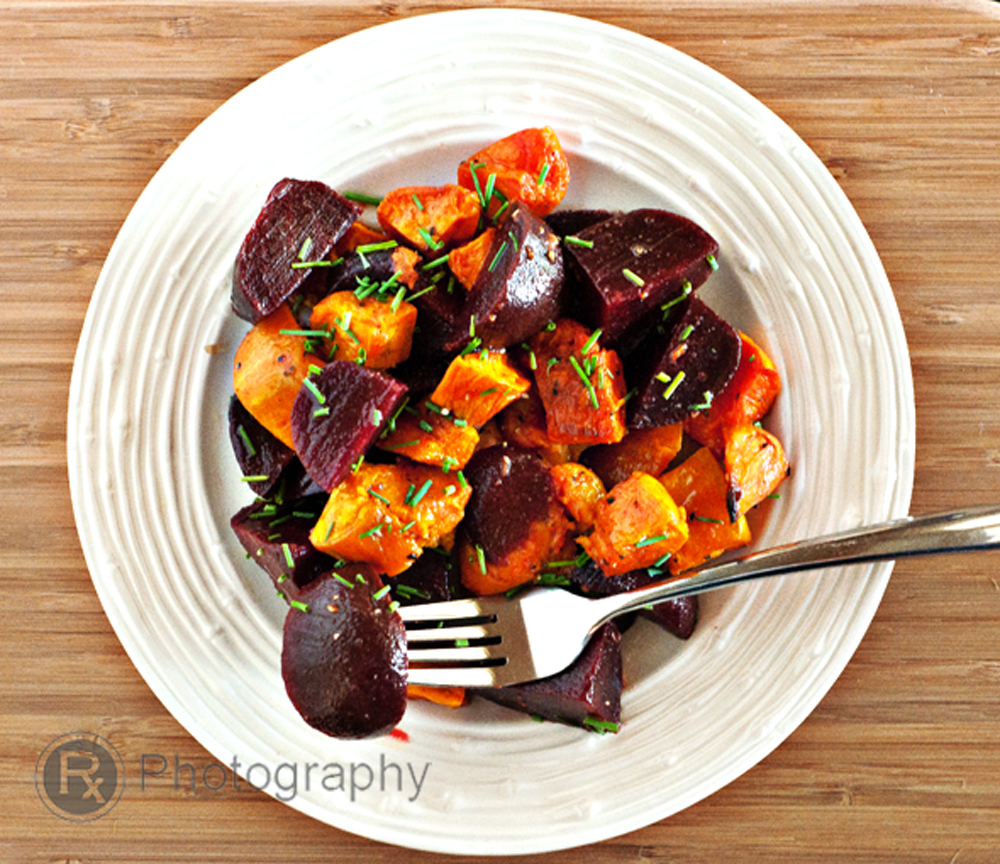Roasted Sweet Potato and Beets Salad with a Lemon-Truffle Vinaigrette ...