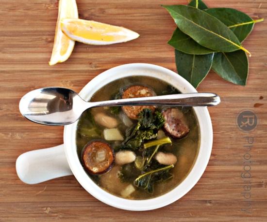 kale soup, turkey kielbasa soup, turkey kielbasa, kielbasa