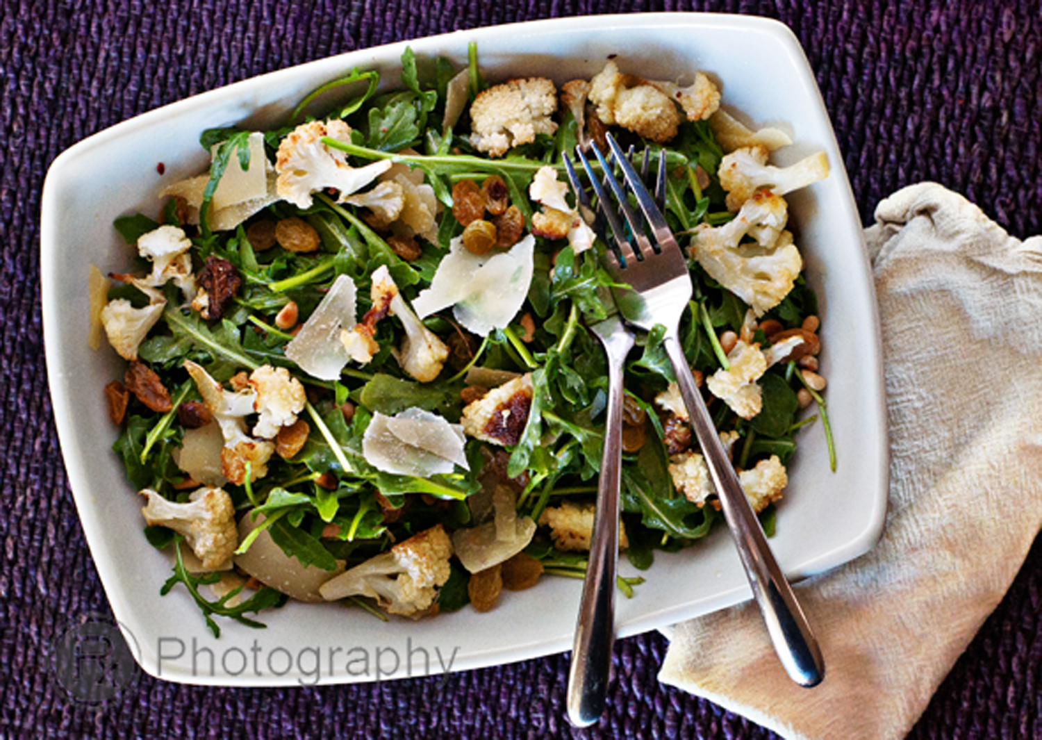 Roasted Cauliflower With Cashew Raisin Vinaigrette Recipe ...