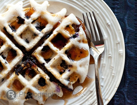 food, recipe, gluten-free, rice, waffles, blueberries, gluten-free waffle